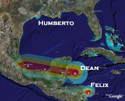 Hurricanes Dean, Felix, and Humberto